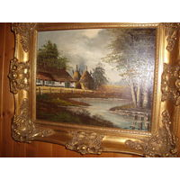 Картина Хижина у речки ( Бельгия)