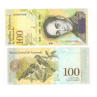 Банкнота Венесуэла 100 000 боливаров 2017 UNC ПРЕСС