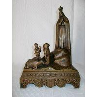 Старенькая статуэтка с мелодией  - Фатима.  Бронза