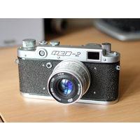 Фотоаппарат ФЭД-2 в хорошем состоянии, 1957 г.
