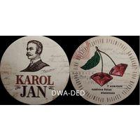 """Подставку под пиво """"Karol Jan """"."""