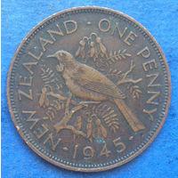 Новая Зеландия 1 пенни 1945 Георг VI