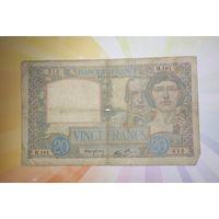 Франция 20 франков 1939г.   НЕЧАСТАЯ
