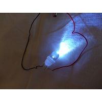 Светодиодная лампочка T10 W5W 1 LED Холодный белый свет 12V