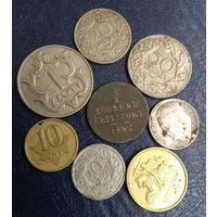 1/2 копейки 1842  и 80 грошей и 1 злотых 1929 Польши ( Rzeczpospolita Polska )   и т.д.