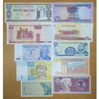 Набор банкнот разных стран - 20 штук - UNC
