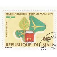 Карта Мали, Печь, Дерево 1989 год