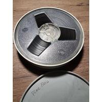 Лента магнитофонная, бабина, плёнка с записями в футляре СССР.