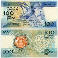 Португалия. 100 эскудо (образца 1987.12.03 года, P179d, подпись 7, aUNC)