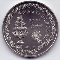 Венгрия, 2000 форинтов 2019 года. 250 лет университету Земмельвайса.