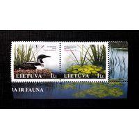 Литва 2005 г Флора и фауна озер Сцепка угол MNH