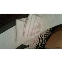 Шапочка и шарф (комплект) белоснежные
