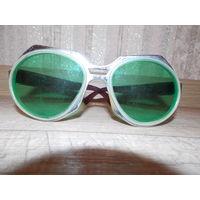 Ретро очки от солнца, очки СССР, зеленые