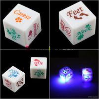 Пара кубиков с эротическими посланиями мигающие при броске