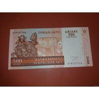 Банкнота 500 ariary Madagascar P-88a 2004-2006