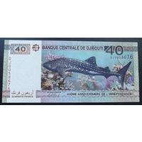 Джибути. 40 франков 2017 [UNC]