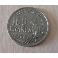 100 франков Франция 1954 г.в. KM# 919.1, 100 FRANCS, из коллекции