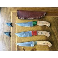 Нож. Дамасская сталь. Новый