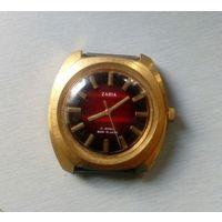 """Часы наручные механические мужские """"ZARIA"""", 17 камней, Ф-43 мм , позолота 10 мкм,- экспортный вариант, 70-80-х"""