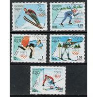 Кампучия /1988/ Спорт / Зимние Олимпийские игры Калгари -88 /  5 Марок
