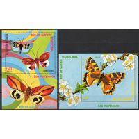 Бабочки Экваториальная Гвинея 1976 год 2 блока (М)