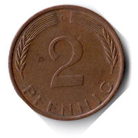 Германия. 2 пфеннига. 1971 G