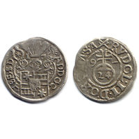 Грошен (1/24 талера) 1597, Германия, Шлезвиг-Гольштейн, Адольф XIII. Коллекционное состояние