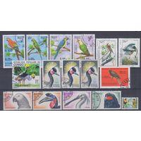 [1314] Фауна.Птицы. 16 гашеных марок разных стран.