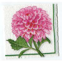 Салфетка для декупажа. Летняя, георгин, цветы. 24 х 24 см