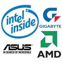 Наклейки Intel, AMD, Gigabyte, ASUS и другие