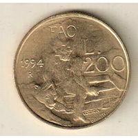 Сан-Марино 200 лира 1994 ФАО