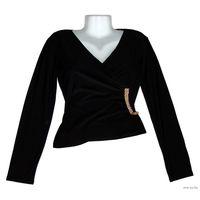 Блузка трикотажная, р-р 42-46 (хорошо тянется, но не деформируется), новая, цвет черный, 90% натуральная вискоза, 10% эластан, прекрасное качество, пр-во Турция. Размеры: длина по спинке - 49см,