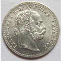 Австрия 10 крейцеров 1872 блеск