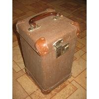 Редкость! Старый фибровый маленький чемодан кофр футляр