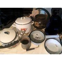Комплект посуды на дачу, кастрюли, чайники и многое другое, все что на фото.