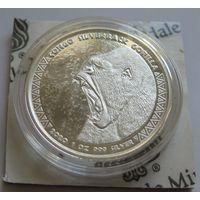 """Конго 2020 серебро (1 oz) """"Горилла"""""""