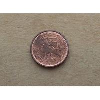 Литва, 1 евроцент 2015 г.