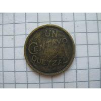 Гватемала 1 центаво 1946г. редкий год