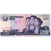 Северная Корея. КНДР.  50 вон  2002 год  UNC
