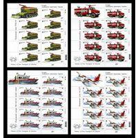 2017 Украина 1658-1661 Пожарный транспорт. Танк. Автомобиль. Катер. Самолет (4 МЛ) **