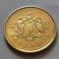 5 центов, Барбадос 2007 г., AU
