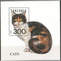 Танзания 1992 Фауна. Кошки, блок