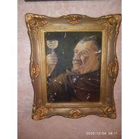 Старинная Картина Холст масло. Франция.
