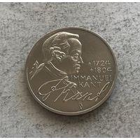Германия 5 марок 1974 250 лет со дня рождения Иммануила Канта