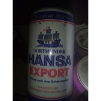 Банка от пива Ханса.