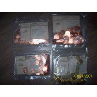 Набор монет РБ образца 2009 года. Номинал-1,2,5,10 копеек.банковская упаковка.в каждой пачке по 100 штук.