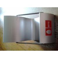 Подставка под мобильный телефон (пластик, серебристый) МТС