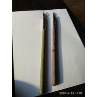 Две старые ученические ручки для письма СССР.