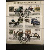 Коморские острова 2008. Классические автомобили. Малый лист