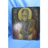 Старинная икона Св. Николай, размеры 36-30 см. С РУБЛЯ. АУКЦИОН!!!